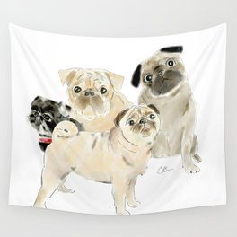 Pug Dogs Pugs Wall Tapestry