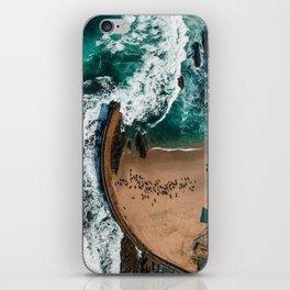 Seal Cove, Aerial Beach Photograph iPhone Skin