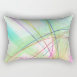 Atmospheric - 02 Colorful Abstract Art Rectangular Pillow