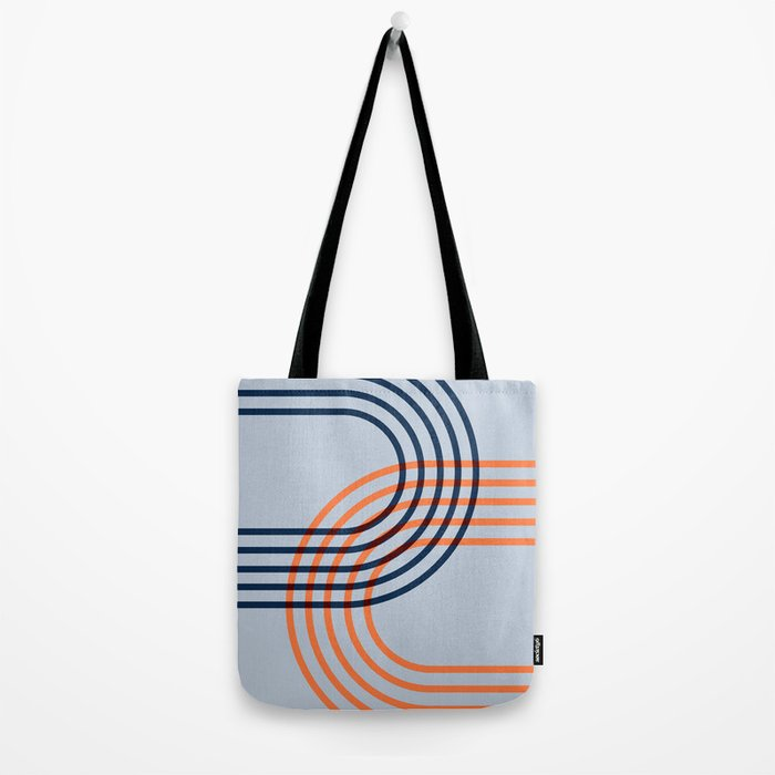 Counterbalance - orange blue Tote Bag