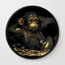 Primate Models: Monkey Laze 01-01 Wall Clock
