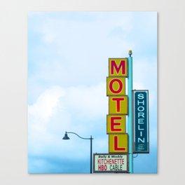 Shoreline Motel Canvas Print