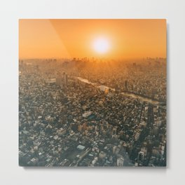 City and the sky Metal Print