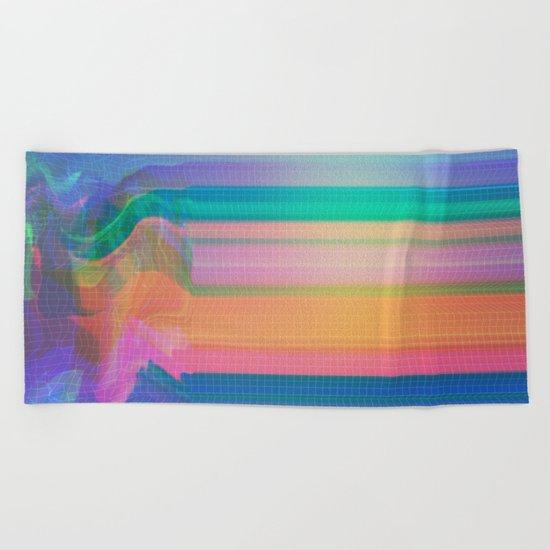Glitch 02 Beach Towel