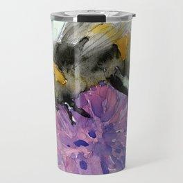 Watercolor Bee 7 Travel Mug