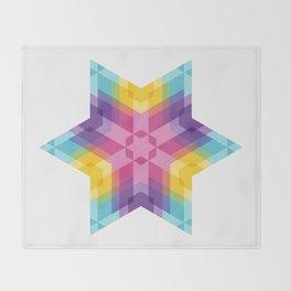Fig. 026 Colorful Geometric Star Throw Blanket