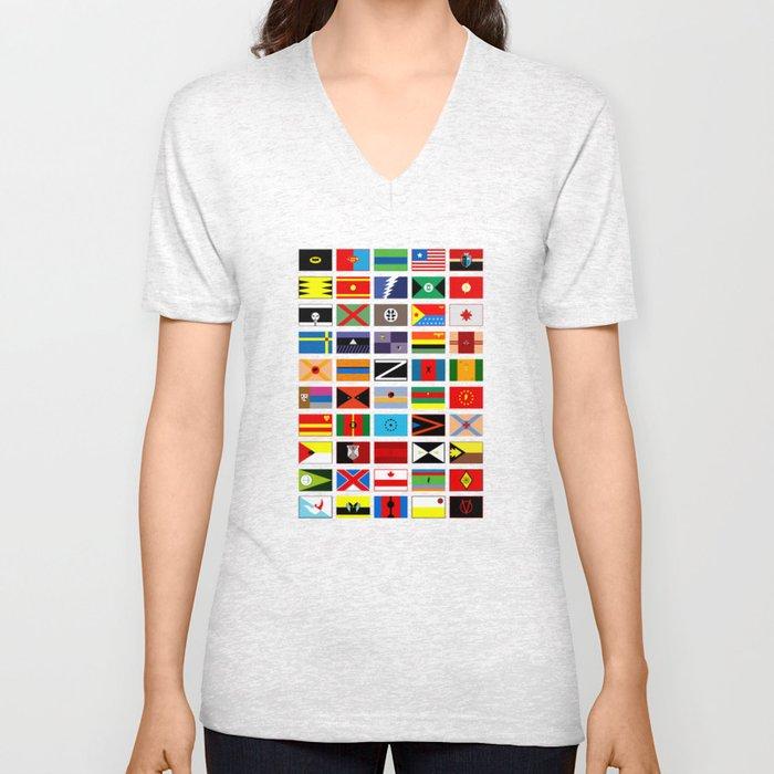 SH as flags Unisex V-Neck