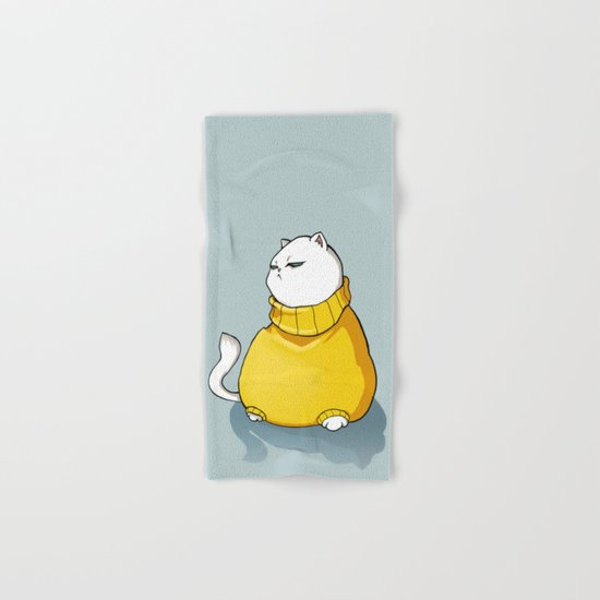 fat cat Hand & Bath Towel