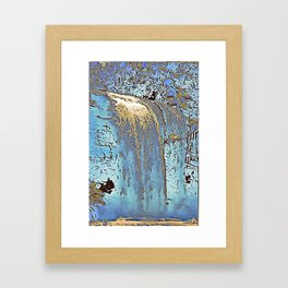"series waterfall ""Cachoeira Grande"" III Framed Art Print"