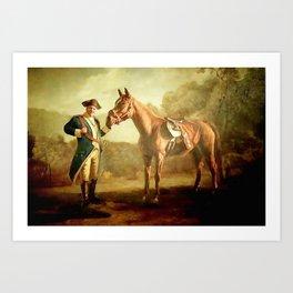 The Sopranos  - Tony with Pie O My - Tony Soprano as Washington w horse Art Print