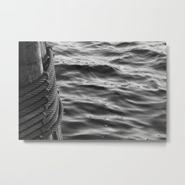 liquid cable Metal Print