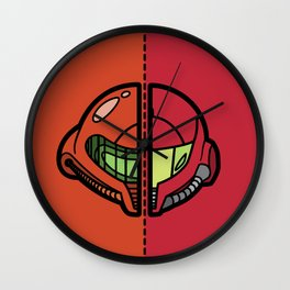 Old & New Samus Aran Wall Clock