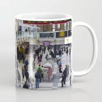 liverpool Mugs featuring Liverpool Street Station London by David Pyatt