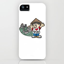 I LOVE GREAT WALL OF CHINA Chinese Fan Vacation iPhone Case