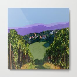 Vineyard View Metal Print