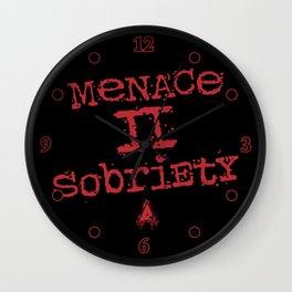 Menace II Sobriety Wall Clock