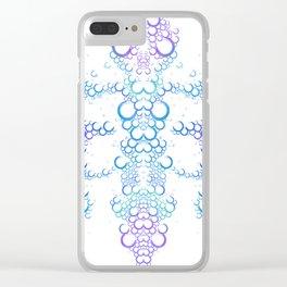 Ink Blot (Light) Clear iPhone Case