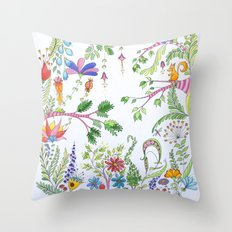 Bucolic forest Throw Pillow