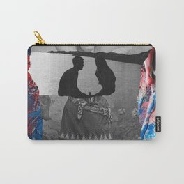 Retro Vintage Collage Photographic and Abstract Art Carry-All Pouch