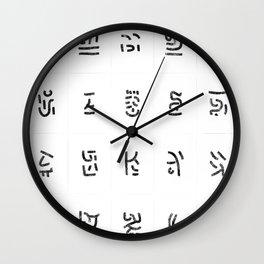 Fragments of rhizome paths 5 Wall Clock