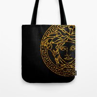 medusa Tote Bags featuring medusa by ECSTATIC