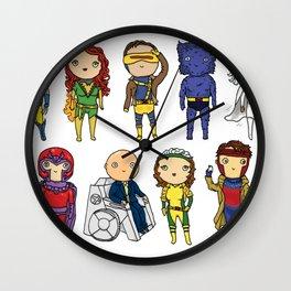 Super Cute Heroes: X-Men Wall Clock