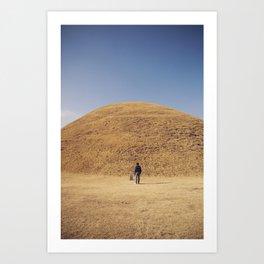 Gyeongju burial ground Art Print