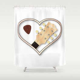 Love Guitar Shower Curtain