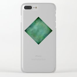 Looking into the depths of green Clear iPhone Case