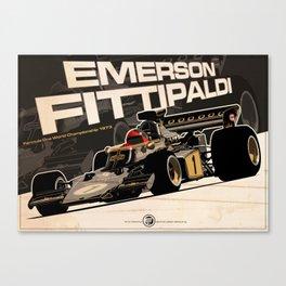 Emerson Fittipaldi - F1 1973 Canvas Print