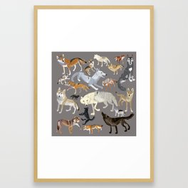 Wolves of the world 1 Framed Art Print