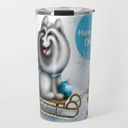 Happy New Dog Travel Mug