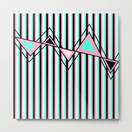 Stripes, Triangles and ZigZags Metal Print