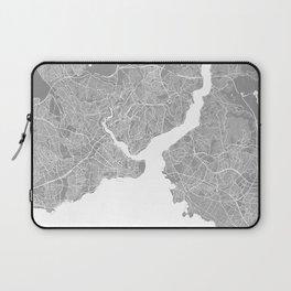 Istanbul map grey Laptop Sleeve