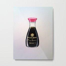 Kikkoman Soy Sauce Metal Print