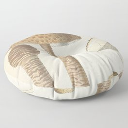 MUSHROOMS Macrolepiota procera - parasol Floor Pillow