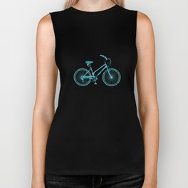 The Tattoo Bycicles - Black and Blue Koi on Blue and Black Biker Tank