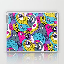 Idiot Bird Pattern Laptop & iPad Skin