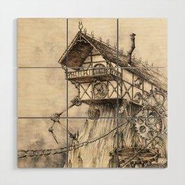 Steampunk House Wood Wall Art
