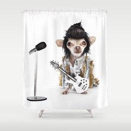 Elvis Chihuahua Shower Curtain