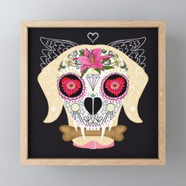 Day of the Dead Pet Framed Mini Art Print