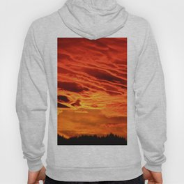 Flame Coloured Sunset Sky Hoody
