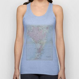 Vintage Map of Bombay India (1893) Unisex Tank Top