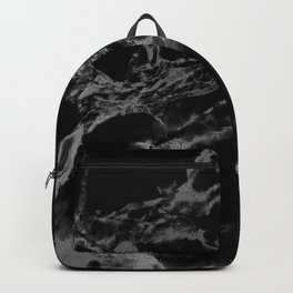 Back and guilded silver faux marble Backpack