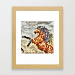 Painted Horse 3 Framed Art Print