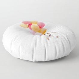 Hedgehog Balloons Floor Pillow
