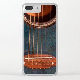Acoustic Study Clear iPhone Case