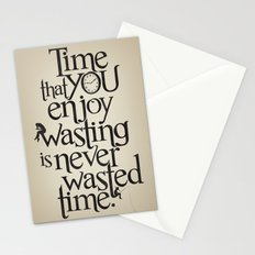 Wasting Time Stationery Cards