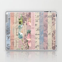 Vintage Shabby Florals Laptop & iPad Skin