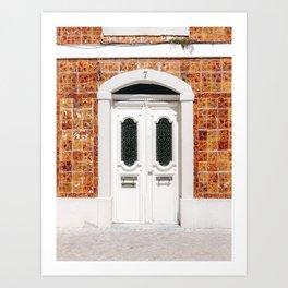 The white door of Cascais | Lisbon Portugal fine art travel photography print Art Print
